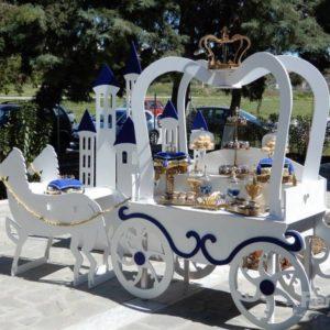 Στολισμός βάπτισης Άμαξα του πρίγκιπα για αγόρι