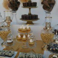 Στολισμός βάπτισης Χρυσές Σοκολάτες