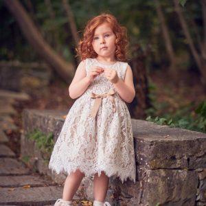 Βαπτιστικά ρούχα για Κορίτσι Designer's Cat Maritina beige