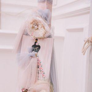 Λαμπάδα βάπτισης για κορίτσι Haute Couture
