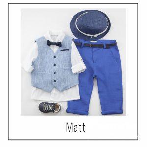Βαπτιστικά ρούχα για Αγόρι Matt