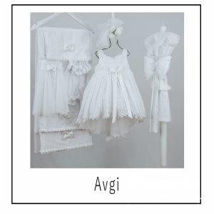 Βαπτιστικά ρούχα για Κορίτσι Avgi