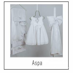 Βαπτιστικά ρούχα για Κορίτσι Aspa