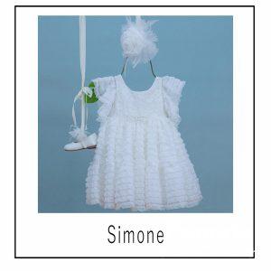 Βαπτιστικά ρούχα για Κορίτσι Simone